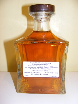 Hielander Whisky Festival Bottling 2013 Back